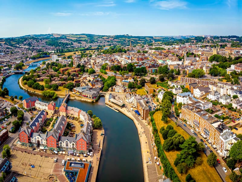 Aerial View of Exeter
